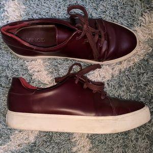 Vince oxblood platform sneakers